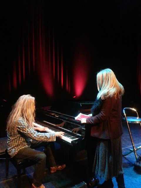 Petra en Jan soundcheck